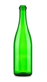 Garrafa vazia de champanhe isolada