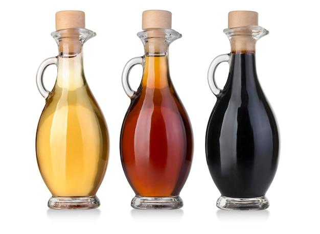 Garrafas de azeite e vinagre