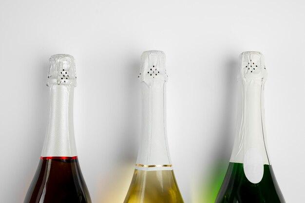 Garrafas de champanhe para o ano novo