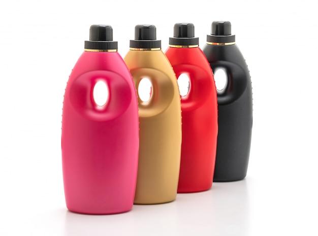 Garrafas de detergente plástico