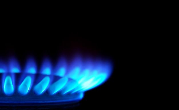 Gás em fundo escuro