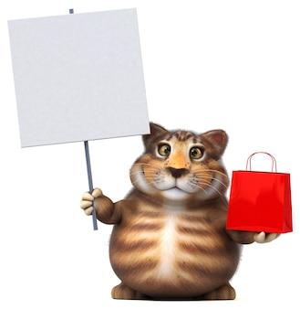 Gato divertido - personagem 3d