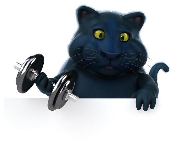 Gato preto - personagem 3d