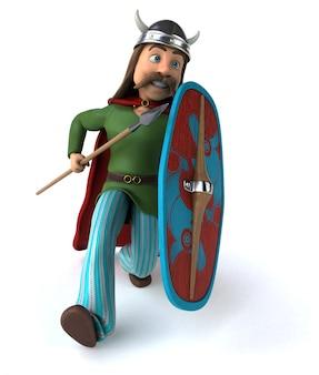 Gaul warrior - ilustração 3d