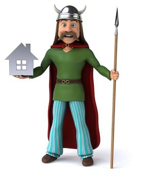 Gaulês divertido - personagem 3d