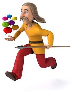Gaulois divertidos - ilustração 3d