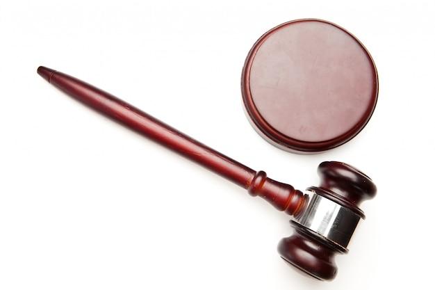 Gavel de juiz de madeira