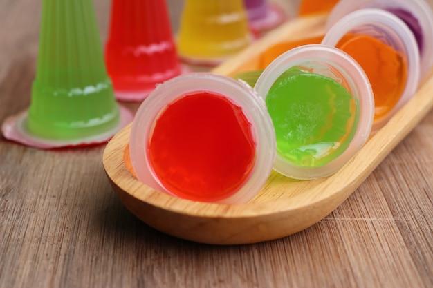 Geléia de doces com colorido