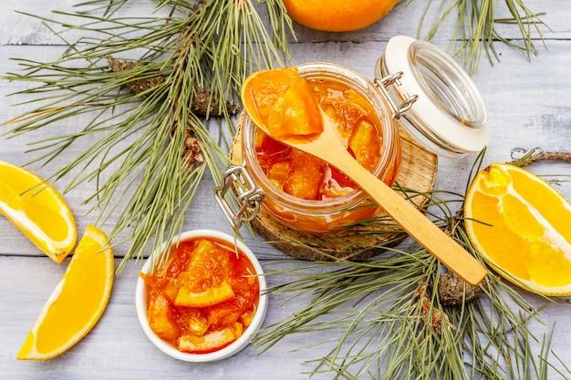 Geléia de frutas laranja