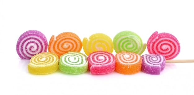 Geléia doce, sabor de frutas, doces sobremesa colorida