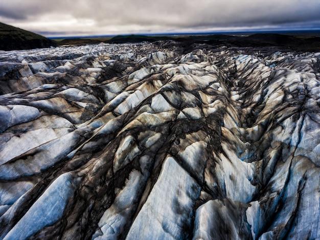 Geleira de svinafellsjokull em vatnajokull, islândia.