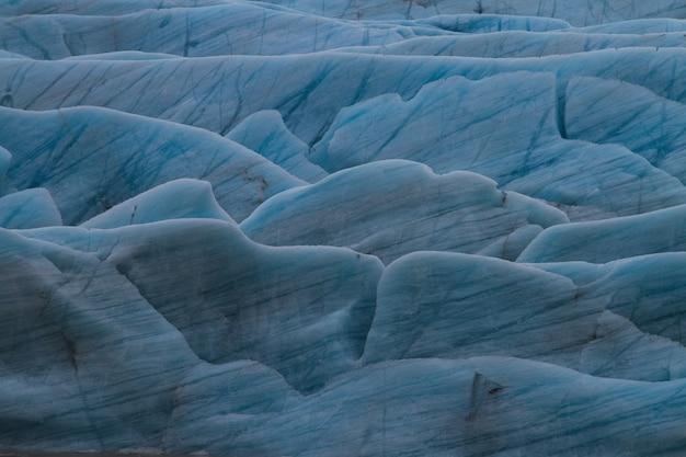 Geleira sob a luz do sol na islândia - ótima imagem para fundos e papéis de parede