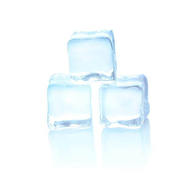 Gelo frio no branco