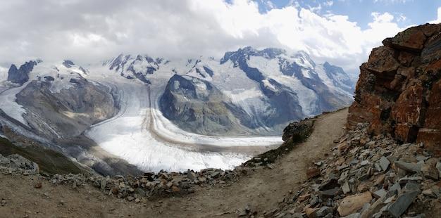 Gelo glacial, derretendo, ligado, mountais, de, gornergrat, suíça