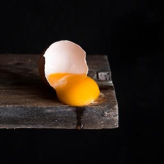 Gema de ovo de close-up