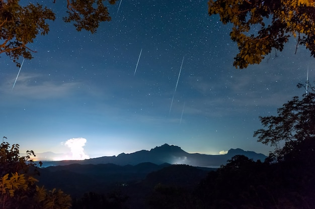 Geminídeos chuva de meteoros