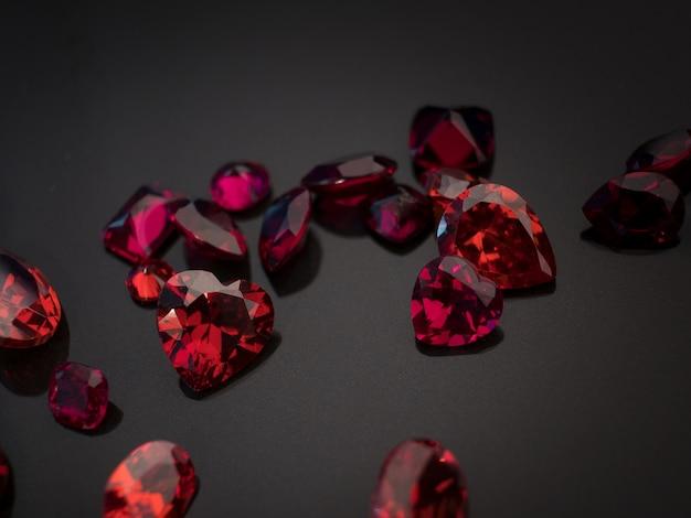 Gemstone red ruby
