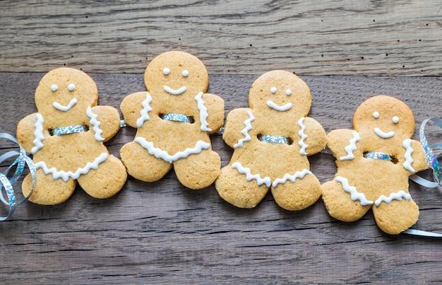 Gengibre pessoas cookies guirlanda