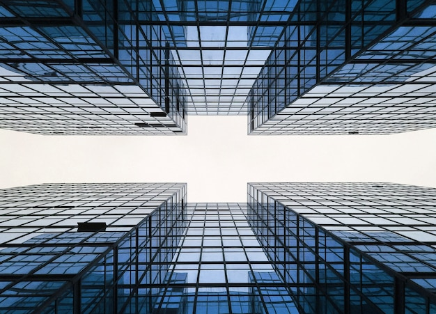 Geometria da construção da cidade do negócio do edifício
