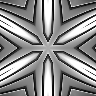 Geometria de cor cromada cinza