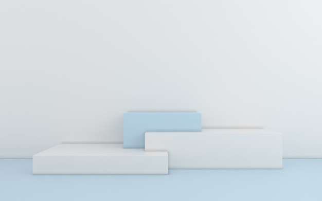 Geométrico abstrato mínimo. renderização em 3d