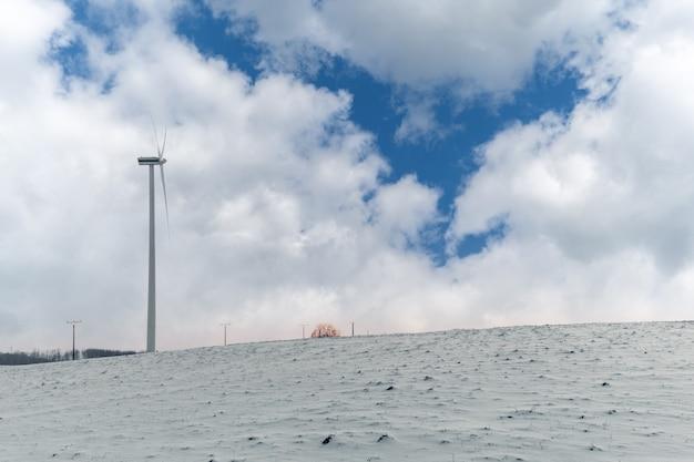 Geração de energia eólica, usina eólica na natureza