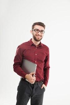 Gerente de sucesso com notebook
