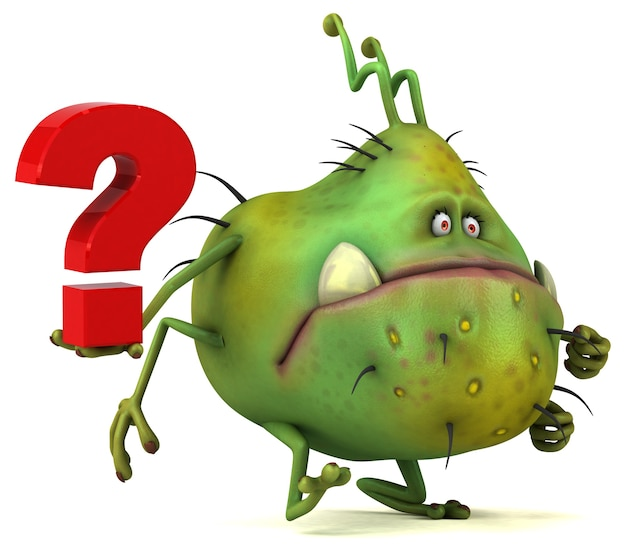Germe divertido - ilustração 3d