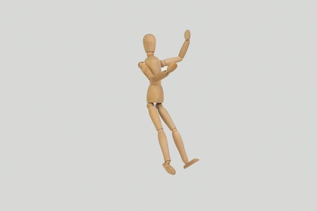 Gestalt de madeira poses expressão de emoções