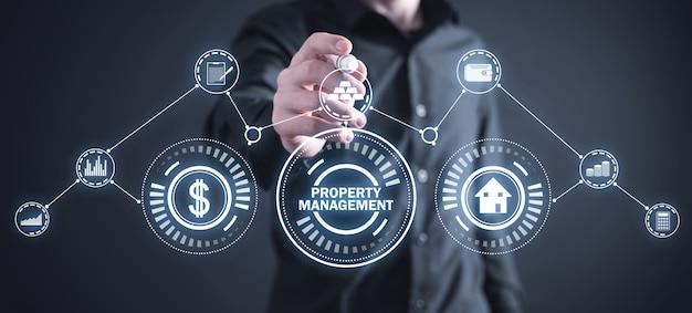 Gestão da propriedade. conceito imobiliário