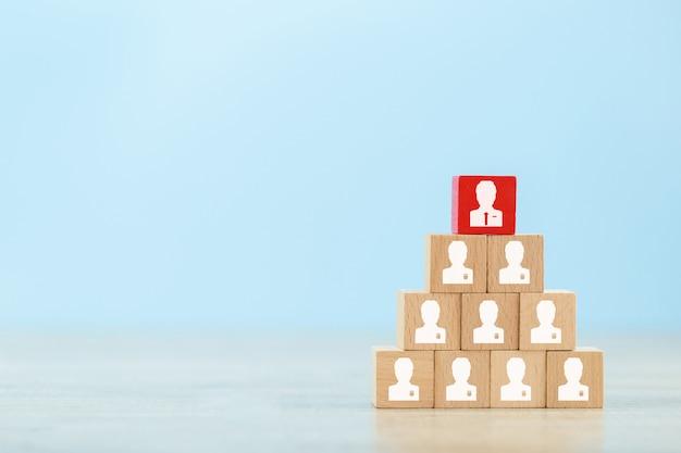 Gestão de recursos humanos e conceito de negócio de recrutamento.