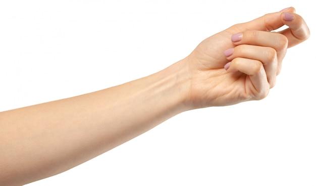 Gesto de mão feminina