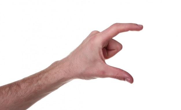 Gesto de mão isolado no fundo branco