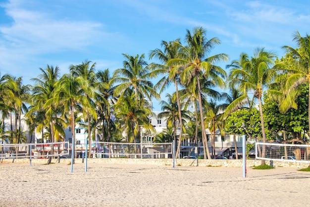Ginásio ao ar livresouth beach, miami, flórida