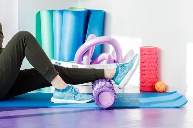 Ginásio para exercícios de pilates e fitness