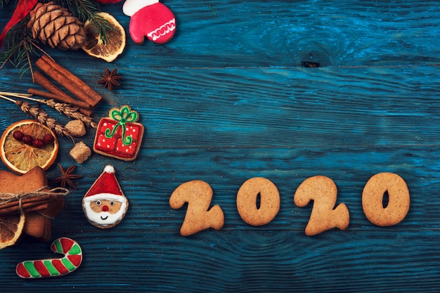 Gingerbreads para os novos anos de 2020