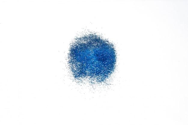 Glitter azul ou shimmer, brilho para maquiagem e unhas