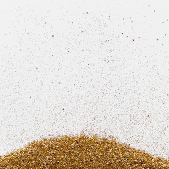 Glitter de luxo ouro sobre fundo branco