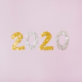 Glitter prata e dourado com fundo de espaço de cópia