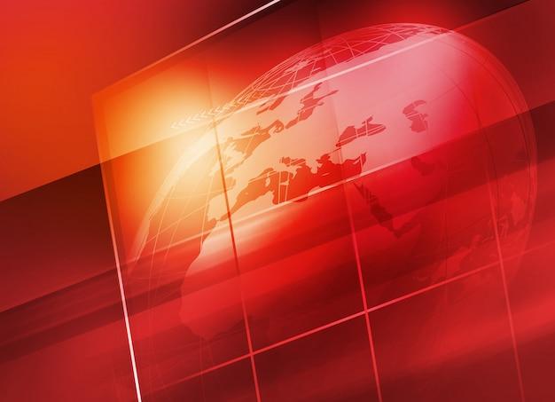 Globo da terra dentro de fundo de tela grande flat tv