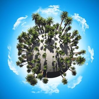 Globo de árvore de palma
