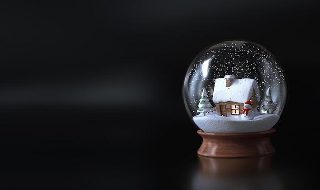 Globo de neve com um boneco de neve