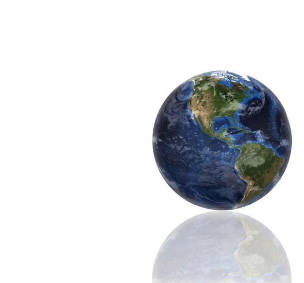 Globo do planeta 3d