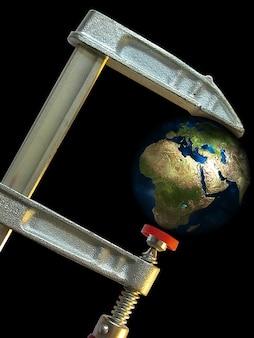 Globo terrestre parafuso de fixação da supressão ambiente