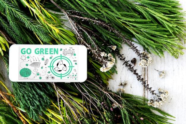 Go green reutilizar sun bus arrow concept