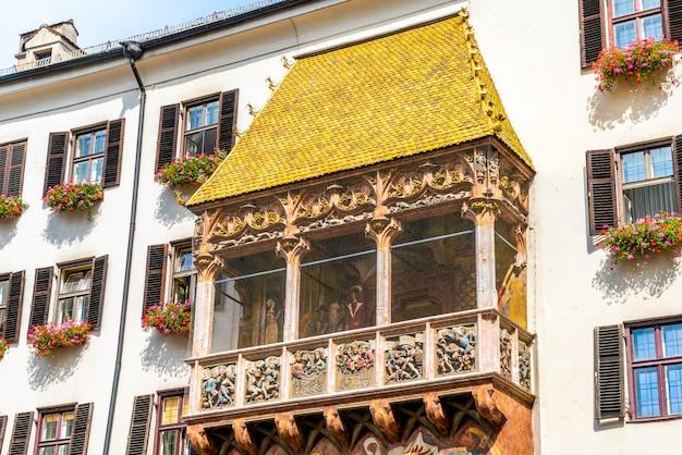 Goldenes dachl em innsbruck, na áustria.