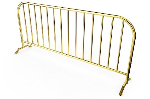 Goldl wire fence - isolated uma cerca de arame isolada no branco. renderização 3d