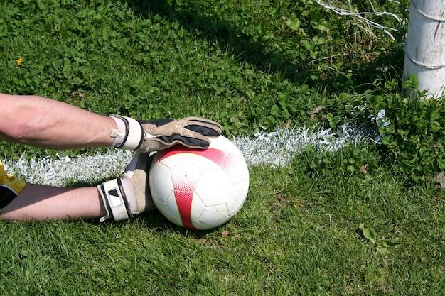 Goleiro pegar a bola