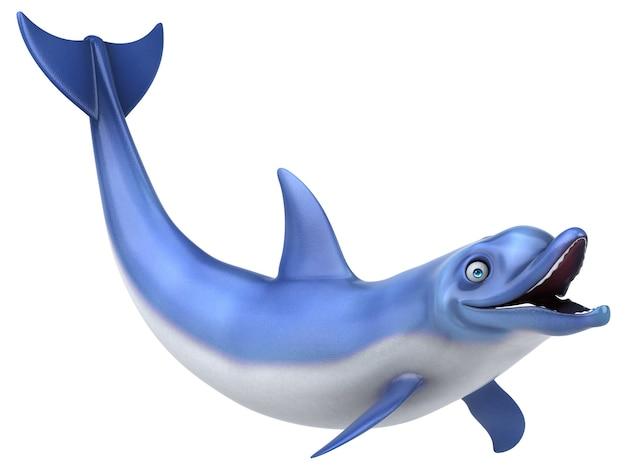 Golfinho divertido - ilustração 3d