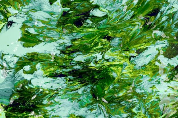 Golpes de cor verde e azul